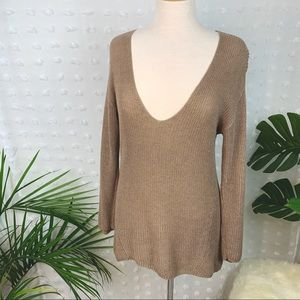 T. BABATON Silk and Linen Knit Sweater